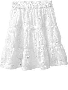 Eyelet Maxi-Skirts for Baby--add cinching in bottom to wrap around newborns feet?