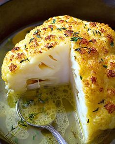 A Very Tasty Slow Cooker Whole Roasted Cauliflower With Butter Sauce