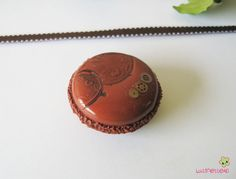 magnet macaron couleur cuivre pâte polymère fimo MAGN25 l'air du temps : Accessoires de maison par lutinette40