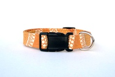 SALE!! BUY ONE DOG COLLAR OR LEASH GET ONE FOR HALF PRICE - www.muttsandmittens.etsy.com - Orange Dog Collar - 1 Wide Medium & Large Sizes. $18.00, via Etsy. - #muttsandmittens #dogcollars