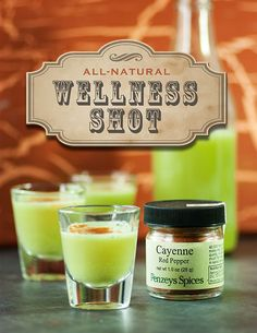 This wellness shot recipes comes from Lexie's Kitchen and is a great alternative remedy to may over the counter cold and flu medications. It is completely natural and it contains no gluten, dairy or eggs.
