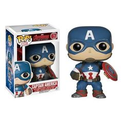 From the 2015 Marvel movie Avengers: Age of Ultron, this Funko Pop! Vinyl figure stylizes Captain America, the alter ego of Steve Rogers, as played by Chris Evans in chibi format. It stands about 3 3/4-inches tall and comes in a collectible window box. #nesteduniverse