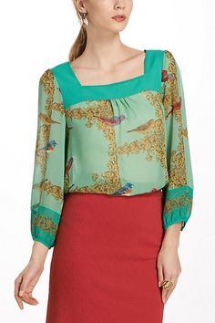 Warbler Post Peasant Blouse  - Anthropologie