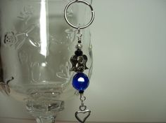 Blue Angel Key Chain/Purse Charm by debkcreations on Etsy, $4.50