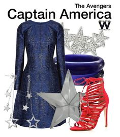 The Avengers by wearwhatyouwatch on Polyvore featuring polyvore, moda, style, Oscar de la Renta, River Island, Moschino, R.J. Graziano, Journee Collection, fashion, clothing, wearwhatyouwatch and film
