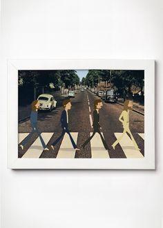 Poster The Beatles Abbey Road - Meu Adorável Iglu