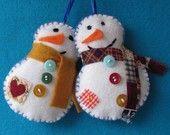 CUTE felt snowmen!