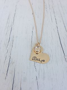 Your place to buy and sell all things handmade Wedding Jewelry Simple, Arrow Necklace, Gold Necklace, Bad Bad, Simple Necklace, Bride Gifts, Heart Charm, Hand Stamped, Dinner