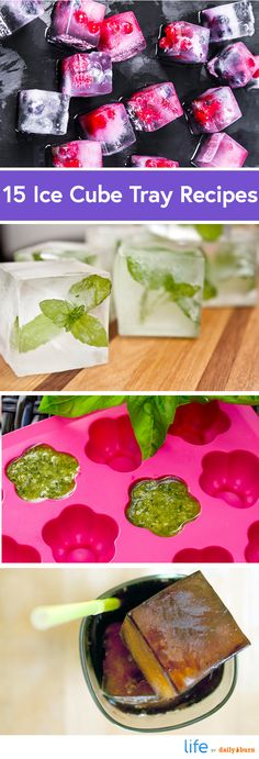 15 Creative Ice Cube Tray Recipes (via Daily Burn)