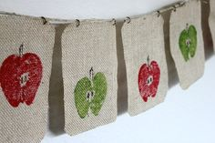 Fall Apple Banner and other crafts for kids!
