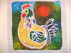 Batik Design of a Rooster by Stuart C