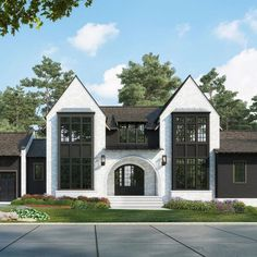 Check out this 2019 parade home for coming soon to Hawthorne Park! Residential Architecture, Architecture Design, Eckhaus, Suburban House, Modern Farmhouse Exterior, Tudor House, Dream House Exterior, House Goals, Home Fashion