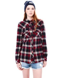 CHECK FLANNEL SHIRT - BLOUSES AND SHIRTS - WOMAN - PULL Greece