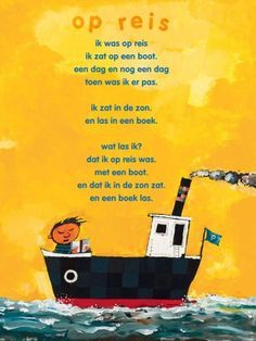 Aan de muur - S A L E P o ë z i e p o s t e r s - poëzieposter met gedicht Op reis van Wim Hofman Learn Dutch, Poetry For Kids, Best Teacher Ever, Dutch Quotes, Travel Party, Project, Close Reading, Kids Prints, Summer Kids