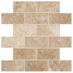 American Olean Laurel Heights Elevated Beige Ceramic Brick Mosaic Floor And Wall Tile (Common: X Ac Ceramic Mosaic Tile, Mosaic Wall Tiles, Subway Tile Backsplash, Glazed Ceramic, Mosaic Glass, Backsplash Ideas, Kitchen Backsplash, Backsplash Wallpaper, Kitchen Floors