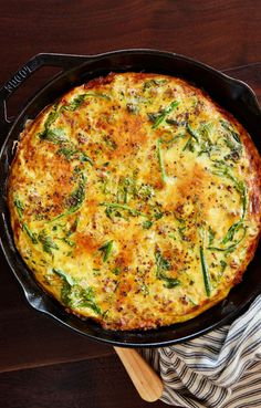 The frittata will be easier to remove from the skillet if it sits for a few minutes—the top will deflate and the edges will pull away from the pan.
