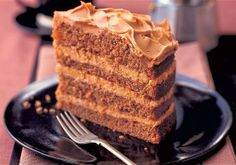 Mary Berry coffee cappuccino cake - a deep luxurious coffee cake; very impressive and delicious. Mary Berry Coffee Cake, Mary Berry Scones, Food Cakes, Cupcake Cakes, Cupcakes, Jaffa Kuchen, British Bake Off Recipes, British Baking, Brownie
