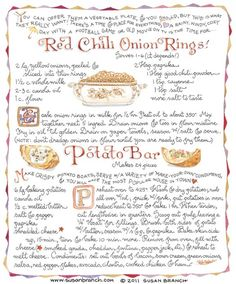 Red Chili Onion Rings and Potato Boats