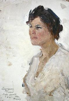 An oil painting of Zoya by Aleksey Motorin