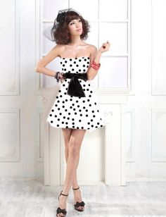 funky dress with white and black dots