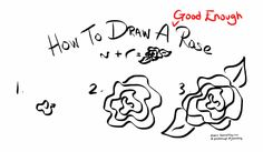How to draw a Good Enough rose in three steps! http://jeannelking.com/draw-good-enough-rose/