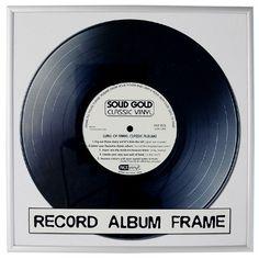 Black Record Cover Frame | DotComGiftShop