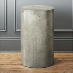column small grey pedestal table FOR FAMILY ROOM SCULPTURE