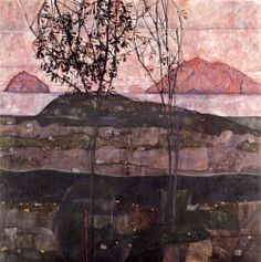 nataliakoptseva:  Egon Schiele, the Setting Sun, 1913, oil on canvas,90 x 90.5cm.