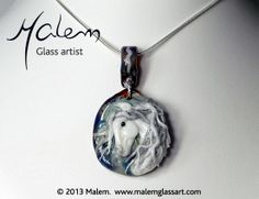 Equine Art by Malem Glass Artist Andalusian Horse, Equine Art, Glass Jewelry, Glass Art, Sculptures, Creatures, Horses, Pendant Necklace, Artist