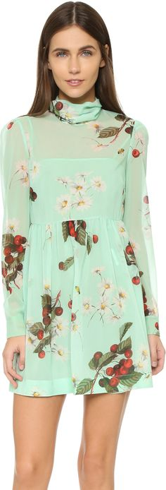RED Valentino Print Mini Dress