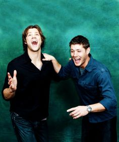 Sam and Dean laughing