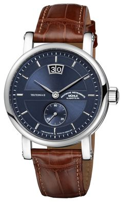 """Mühle-Glashütte Teutonia II Großdatum Chronometer Watch - by Rob Nudds - on aBlogtoWatch.com """"Every brand needs to be known for something. In the case of Mühle-Glashütte, the first thing that pops into my mind is humble excellence. With the Mühle-Glashütte Teutonia II Grossdatum Chronometer, a timepiece for professionals, the German brand has further established itself as one of those sneaky-clever periphery names giving consumers a whole lot of bang for their buck…"""""""