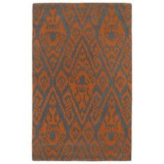 Shop for Hand-tufted Runway Ikat Orange/ Charcoal Wool Rug (5' x 7'9). Get free shipping at Overstock.com - Your Online Home Decor Outlet Store! Get 5% in rewards with Club O!