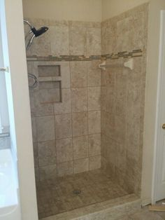 Gentil Replaced Plastic Shower Insert With Tile