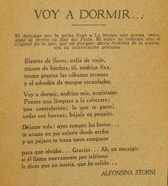 """Poema original de #AlfonsinaStorni, su poema póstumo. """"Te vas Alfonsina con tu soledad...."""""""""""
