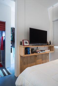 Dormitório integrado com área íntima : Quartos ecléticos por Bladihaus Arquitetura