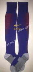 2016/17 Barcelona Home Blue  Soccer Socks With LOGO Soccer Socks, Soccer Equipment, Barcelona, Blue, Logo, Fashion, Soccer Uniforms, Moda, Logos
