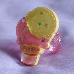 #119 Milky Planet Ring Yellow