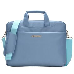 [$11.94] 15.6 inch Portable One Shoulder Waterproof Nylon Laptop Bag, Baby Blue (301#)