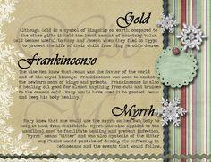 Gold, Frankincense and Myrrh gift card