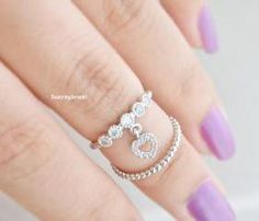 cute heart shape ring