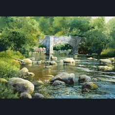 Signed Limited Edition Prints Mounted Framed River Scenes Seascapes Devon Dartmoor River Dart by Richard Thorn at Haddon Galleries