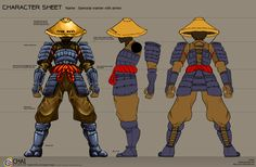 Samurai warrior with armor by *Charochai on deviantART