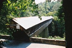 Horton Mill covered bridge. Highest historic covered bridge above water in the U.S. Stands 70 feet above the Calvert Prong of the Locust Fork River. Set for restoration 2012. Located between mile marker 34 & 35 on State Highway 75, Oneonta, Alabama.