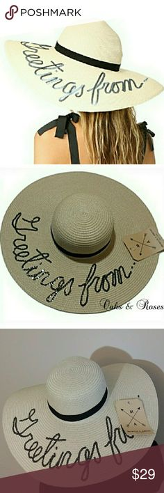 Sequined Floppy Straw Hat This brand new hat is the perfect vacation  accessory. Lightweight aacd7368a7d8