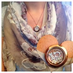 Medium rose gold Origami Owl locket.  Share what is important to you and create your own locket...