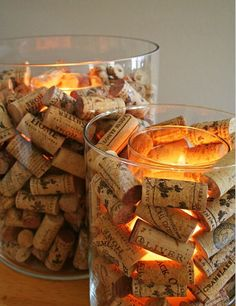 Wine cork candle  http://www.dalliancedesign.com/2012/10/wine-cork-collection.html?m=0