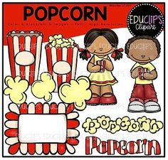 FREE Popcorn Clip Art Bundle {Educlips Clipart} by Educlips Movie Clipart, Cute Clipart, Preschool Classroom, Classroom Clipart, Classroom Freebies, Preschool Learning, Fun Learning, Classroom Ideas, Cliparts Free