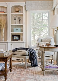 Swampscott family room, MA. Anita Clark Design.