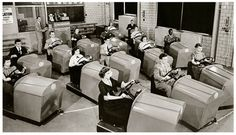 Drivers Ed class, Brooklyn High, 1955.